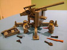LEGO LOT #05 CUSTOM WW2 WORLD WAR 2 GERMAN DARK BLUISH GRAY 88 mm CANON FIGURES