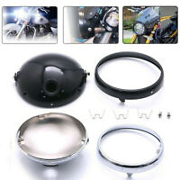 "7"" Motorcycle LED Headlight Mounting Housing Bucket For 7Inch Headlight Blac  HO"