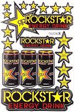 Rockstar Energy Sticker Decal Sheet Motocross Enduro Bike KTM BMX MTB ATV CAR 11