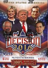 Decision 2016 Political Collectible Trading Cards 12 Pack Blaster Box