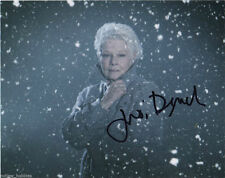 Judi Dench Bond Autographed Signed 8x10 Photo COA 1