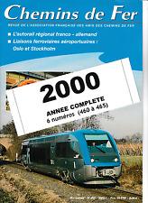 AFAC - Année 2000 (Complet) Revues de l'association des amis des Chemins de Fer