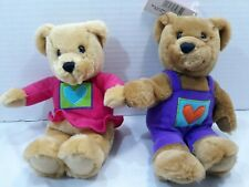 """Valenties Hallmark Kiss Kiss Bears Magnetic Noses Holding Hands 10"""""""
