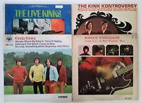 KINKS LP Album Covers Kinda Kingdom Kontroversy Live - Lot of 4 Items
