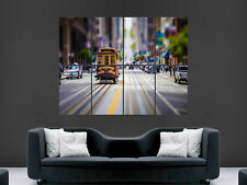 SAN FRANCISCO CITY TRAM STREET USA   ART WALL LARGE IMAGE GIANT POSTER !!