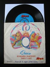 "QUEEN : Bohemian Rhapsody 1976 Turkish 7"" Vinyl Single Turkey Record"