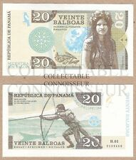 Panama 20 Balboas 2014 UNC NEUF SPECIMEN Private Issue Test Note Banknote