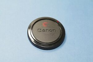 Vintage Canon Body Dust Cap for CANON FD Breech Cameras - Black Red Dot CLEAN