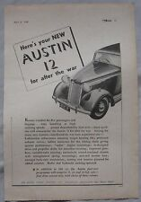 1945 Austin 12 Original advert No.1