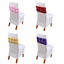 Polyester Not Personalised Wedding Chair Decoration