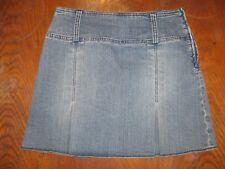 Jupe courte en jean forme trapèze- Camaieu- bleu délavé - coton mélangé - 38