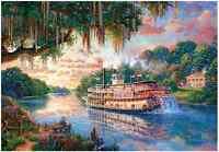 "Jigsaw Puzzles 1000 Pieces ""The River Queen"" / Thomas Kinkade"