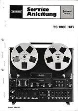 Service Manual-Anleitung für Grundig TS 1000
