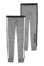 Victorias Secret  PINK Gray Logo Skinny Gym Pant Sweat Pant ~ Size Xsmall