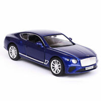 1:36 Bentley Continental GT Model Car Diecast Toy Vehicle Blue Pull Back Kids