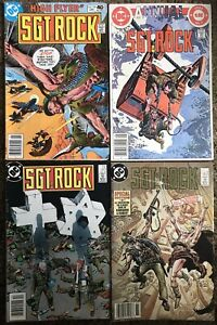 Sgt Rock Comic Book Collection of 4 Sgt. Rock Comic Books. 1980s DC