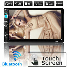 "Car Stereo 7"" inch Touch screen Double 2 Din Radio FM/MP5 bluetooth Player LCD"