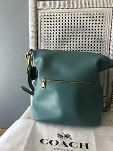 $495 Coach Chain Duffle V5 BLUE BAG~GORGEOUS 79029