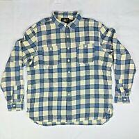 RRL Ralph Lauren Plaid Work Wear Shirt XXL Gusset Vent Hole Cotton Button Down