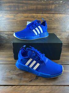 Adidas Originals NMD_R1 Boost Glow Blue FW6455 Juniors Shoes-NEW