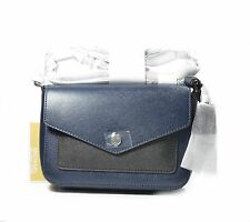 MICHAEL Michael Kors Bag Greenwich Small Saffiano Leather Crossbody Navy