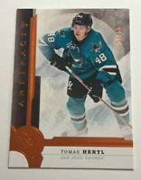 Tomas Hertl /55 made Artifacts Orange Insert Parallel Hockey Card 37 Sharks
