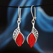Koralle Silber 925 Ohrringe Damen schmuck Sterlingsilber H347