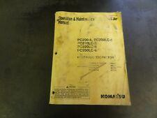 Komatsu PC200-6 PC200LC-6 PC210LC-6 PC220LC-6 Excavator Operation Manual