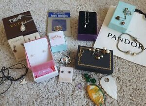 Jewellery Bulk Lot; Sterling Silver, Pandora, Gold plated, hallmarked