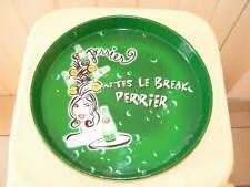 """Plateau Publicitaire Vintage  PERRIER  """" faites le break Perrier """"           002"""