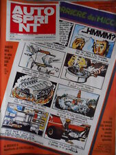 Autosprint 38 1974 Poster Eugenio Castellotti con Lanmcia 1000 Miglia. Merzario