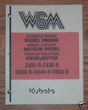 KUBOTA ENGINE SERVICE MANUAL MODELS Z400-B Z430-B
