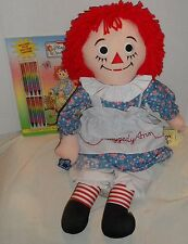 """Raggedy Ann & Andy Color Book and Doll lot  - 25"""" Applause Ann with Tags"""