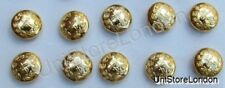Button General Staff Military Army Gold 14mm Pack of 10 R698