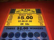 Grab A Fin Tip Card Punch Board Pulltabs Trade Stimulator Gambling Casino NOS #3