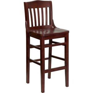 Flash Furniture Wood Restaurant Bar Stool, Mahogany - XU-DG-W0006BAR-MAH-GG