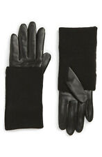 Nordstrom Knit Cuff Lambskin Leather Gloves S - M MSRP$129