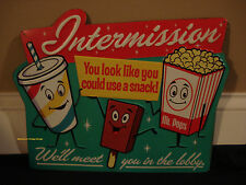CINEMA THEATER METAL SIGN* movie film coke cola popcorn vintage retro style reel