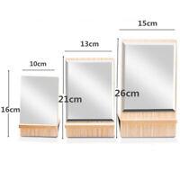Bathroom Shaving Vanity Mirror Standing Wooden Folding Makeup Mirror