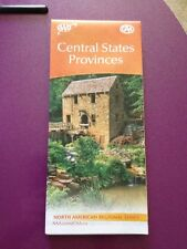 CENTRAL STATES PROVINCES REGIONAL SERIES HIGHWAY MAP AAA 4/17-7/18 NEW