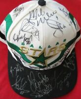 1997-98 Dallas Stars team signed autographed cap hat Mike Modano Ed Belfour +19