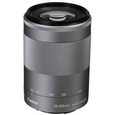 New Canon EF-M 55-200mm f/4.5-6.3 IS STM SILVER Lens