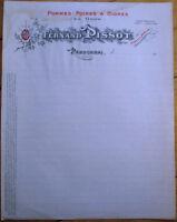 Apple/Pear/Cider/Distillery 1910 Letterhead-Fernand Pissot-Randonnai-Orne-France