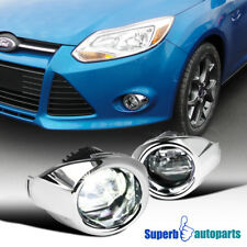 2012-2014 Ford Focus Cool White LED Projector Fog Driving Bumper Light w/ Switch