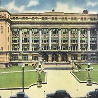 Nebraska Omaha Postcard Vintage Court House Linen Unposted