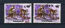 Belgisch Congo Belge Rep du Zaïre n° 908/908a Used Recup Monkeys Small Overprint