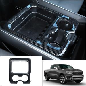 For 2019-2021 Dodge Ram 1500 Carbon Fiber Water Cup Holder Frame Cover Trim