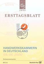 BRD 2000: Handwerkskammern in Deutschland 100 Jahre! Ersttagsblatt Nr 2124! 1511