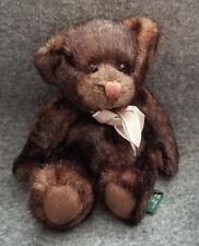 "Russ Berrie Sienna Dark Brown Teddy Bear stuffed/plush - 7"""