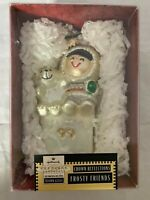 1999 Hallmark Keepsake Christmas Ornament Frosty Friends Blown Glass Crown Refle